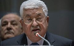 Palestinian Authority President Mahmoud Abbas addresses the Group of 77 on January 15, 2019 at the United Nations in New York (Don EMMERT / AFP)