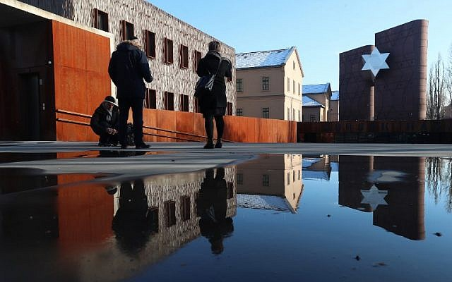 People visit the new 'House of Fates' Holocaust museum, housed in what was the former 'Jozsefvarosi' railway station in Budapest on January 21, 2019. (Ferenc Isza/AFP)