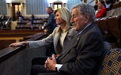 Singer Tony Bennett waiting for the opening of the 116th Congress at the US Capitol in Washington, DC, on January 3, 2019. (Win McNamee/Getty Images/AFP)