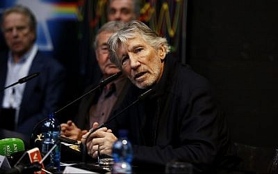 Roger Waters at a press conference for 'The Pink Floyd Exhibition: Their Mortal Remains' in Rome, Italy, January 16, 2018. He is a leading celebrity in the Boycott, Divestment and Sanctions movement against Israel. (Ernesto S. Ruscio/Getty Images)