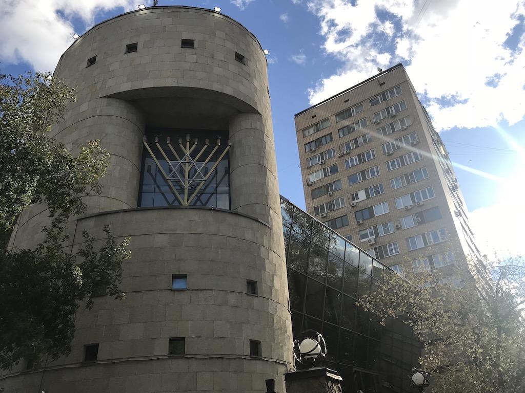 Bolshaya Bronnaya Synagogue in Moscow. (Rossella Tercatin/ Times of Israel)