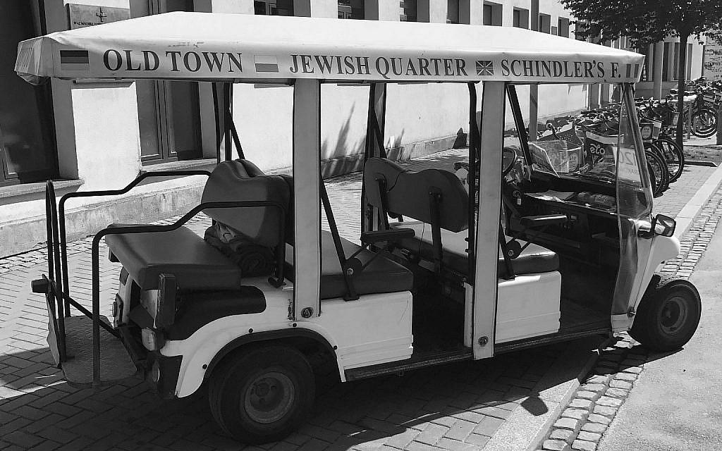 Typical electric tourist cart in Kraków. (Courtesy Walkowitz)