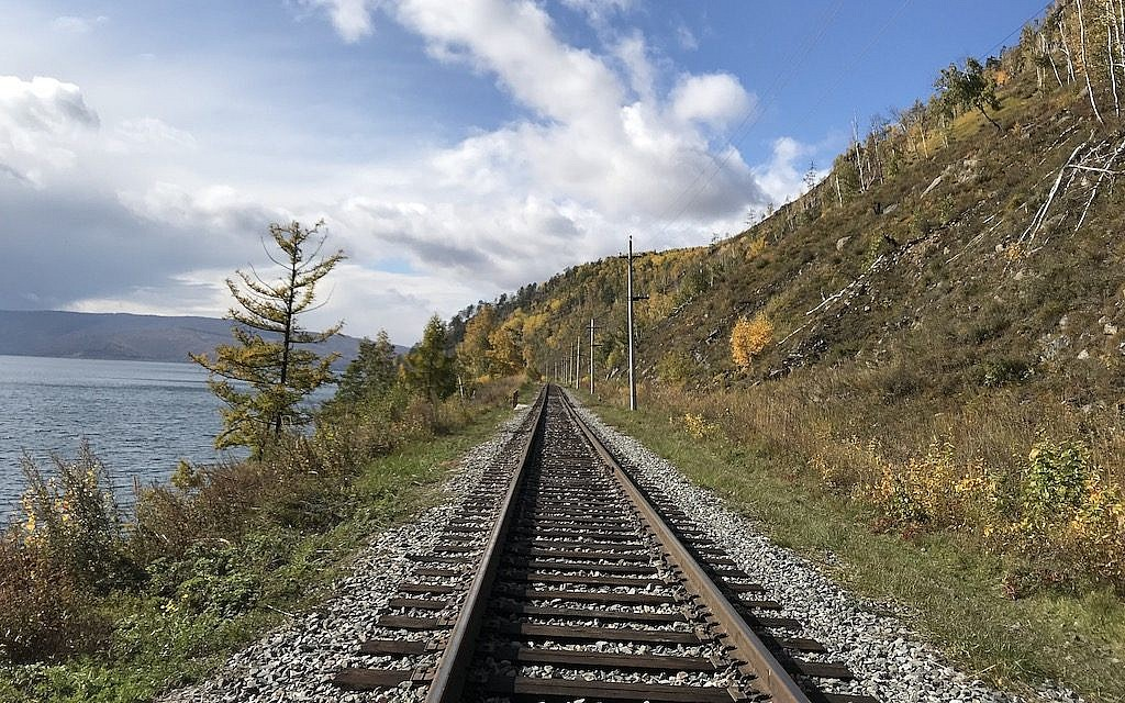 The Circum-Baikal Railway along Lake Baikal. (Rossella Tercatin/ Times of Israel)