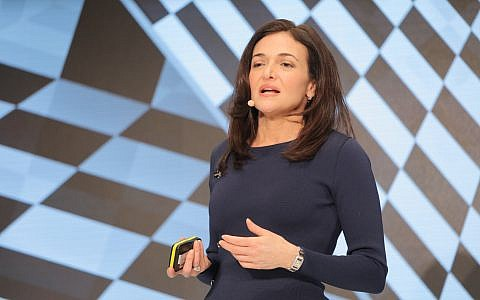 Sheryl Sandberg, Facebook's Chief Operating Officer, speaks at the DLD Munich Conference 2019, January 20, 2019. (Picture Alliance for DLD | Verwendung weltweit)