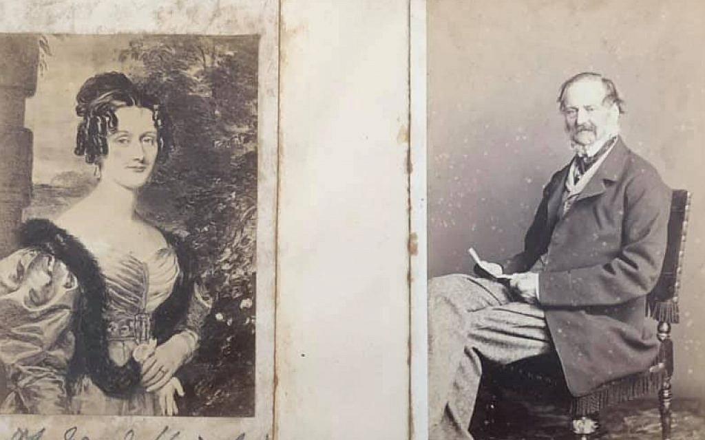 Mary Dorothea Knatchbull and Edward Knight II (Jane Austen's nephew). Mary was the daughter of Sir Edward Knatchbull, and stepdaughter to Fanny Knatchbull nee Knight  (Jane Austen's niece). Mary eloped with Edward Knight II, who was Fanny's brother. (Renee Ghert-Zand/TOI, © Karen Ievers)
