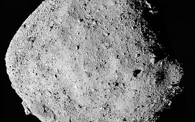 This file mosaic image composed of 12 PolyCam images collected on Dec. 2, 2018, and provided by NASA shows the asteroid Bennu. The Osiris-Rex spacecraft entered orbit Monday, Dec. 31, 2018, around the asteroid Bennu, 70 million miles (110 million kilometers) from Earth. It's the smallest celestial body ever to be orbited by a spacecraft. Bennu is just 1,600 feet (500 meters) across. (NASA/Goddard/University of Arizona via AP, File)
