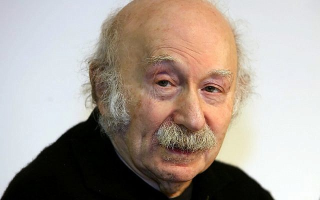Edgar Hilsenrath, a German-Jewish writer, in Berlin on January 11, 2007. (Tim Brakemeier/dpa via AP)