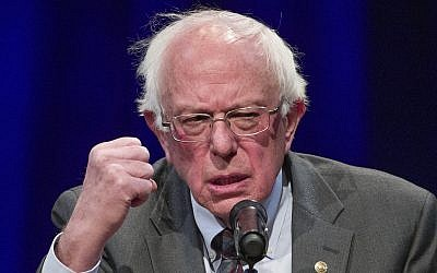 In this November 27, 2018, file photo, Sen. Bernie Sanders, I-Vermont, speaks about his new book, 'Where We Go From Here: Two Years in the Resistance,' at a George Washington University/Politics and Prose event in Washington. (AP Photo/Alex Brandon, File)