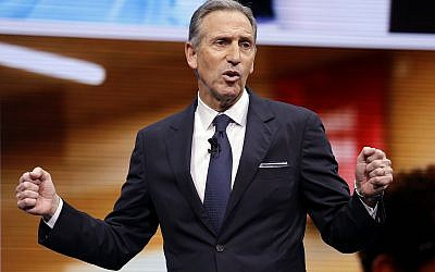 In this March 22, 2017, file photo, Starbucks CEO Howard Schultz speaks at the Starbucks annual shareholders meeting in Seattle. (AP Photo/Elaine Thompson, File)