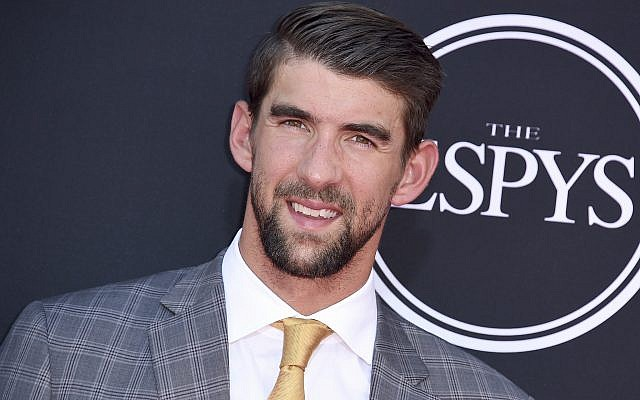 Michael Phelps arrives at the ESPYS at the Microsoft Theater on July 12, 2017, in Los Angeles. (Photo by Jordan Strauss/Invision/AP)