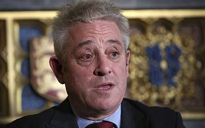Britain's House of Commons Speaker John Bercow (Yui Mok/PA via AP)