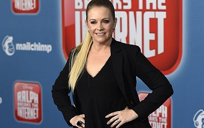 "In this Nov. 5, 2018 file photo, Melissa Joan Hart arrives at the Los Angeles premiere of ""Ralph Breaks the Internet."" (Photo by Jordan Strauss/Invision/AP, File)"