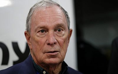 Former New York City Mayor Michael Bloomberg speaks during a news conference after touring the Paulson Electric Company, December 4, 2018, in Cedar Rapids, Iowa. (AP Photo/Charlie Neibergall)