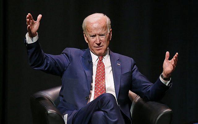 Former Vice President Joe Biden speaks at the University of Utah Thursday Dec. 13, 2018, in Salt Lake City. B(AP Photo/Rick Bowmer)