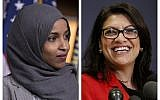 This combination of 2018 photos shows Reps.-elect Ilhan Omar, D-Minn., left, and Rashida Tlaib, D-Mich., in Washington. On Friday, Dec. 21, 2018 The two became the first and only Muslim women elected to Congress in 2018. (AP Photo/Carolyn Kaster,)