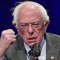 Bernie Sanders at a George Washington University event in Washington. (Alex Brandon/AP)