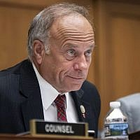 "In this June 8, 2018, file photo, U.S. Rep. Steve King, R-Iowa, listens during a hearing on Capitol Hill in Washington. On Tuesday, Jan. 15, 2019, the House voted 416-1 for a resolution repudiating King's words expressing puzzlement about why terms like ""white nationalist"" are offensive. (AP Photo/J. Scott Applewhite, File)"