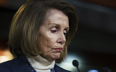 House Speaker Nancy Pelosi speaks during a news conference on Capitol Hill in Washington, Thursday, Jan. 17, 2019 (AP Photo/Carolyn Kaster)