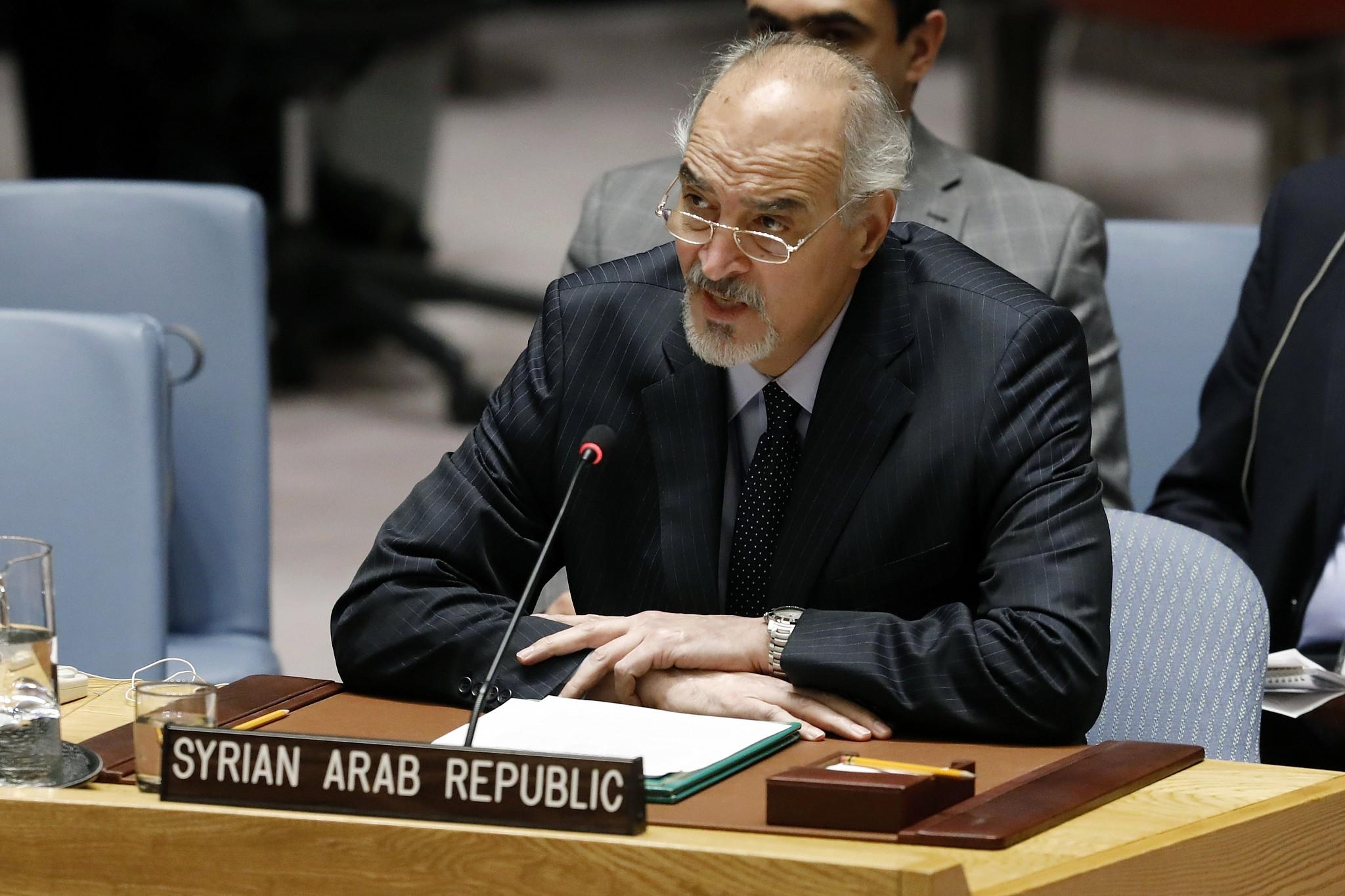 Image result for syria ambassador in un PIC