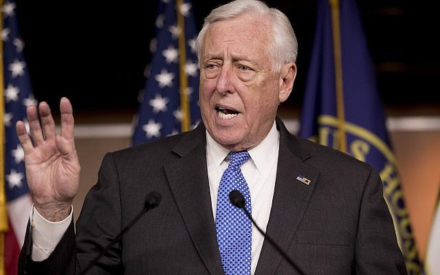 House Majority Leader Steny Hoyer of Md., speaks at a news conference to introduce legislation supporting NATO on Capitol Hill in Washington, Tuesday, Jan. 22, 2019. (AP Photo/Andrew Harnik)