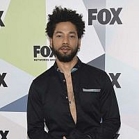 Jussie Smollett, a cast member in the TV series 'Empire,' seen at the Fox Networks Group 2018 programming presentation afterparty in New York. (Photo by Evan Agostini/Invision/AP, File)