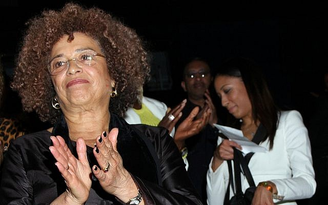 Angela Davis at the Pan African Film Festival at Rave Cinemas Baldwin Hills on  in Los Angeles, California, on February 17, 2013. (Arnold Turner/Invision/AP)