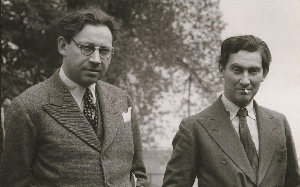 Alexander Korda, left, with his brother Vincent Korda. (Courtesy BFI National Archive)