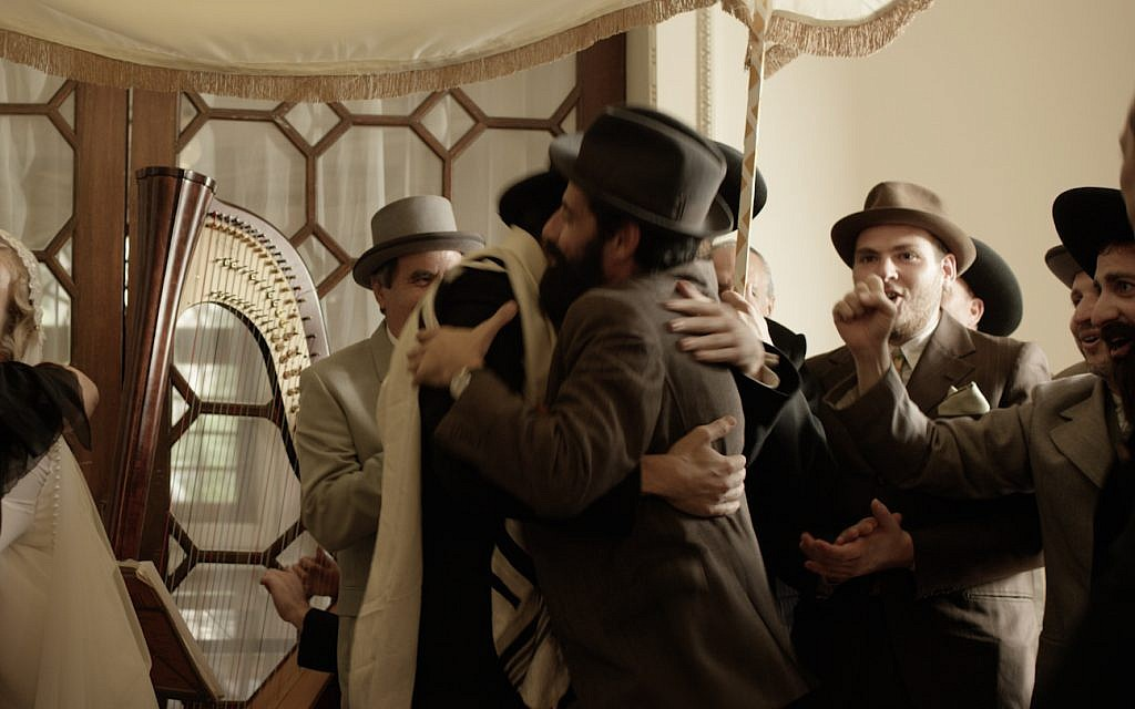 The first Jewish wedding in the Portuguese city of Porto, after centuries of prohibition of the Jewish faith under the Inquisition, is shown in a scene in the new historical drama 'Sefarad.' (Courtesy Miami Jewish Film Festival)