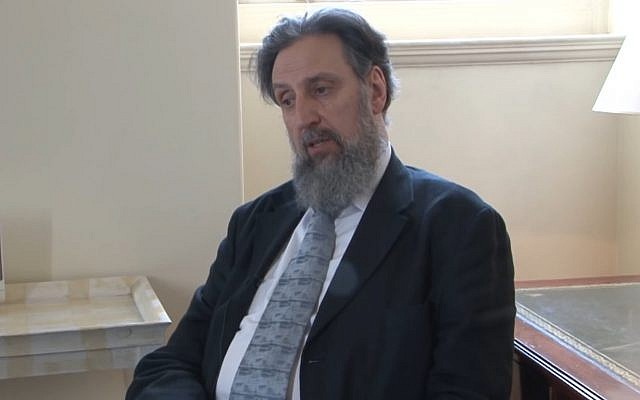 Ephraim Borowski, director of the Scottish Council of Jewish Communities. (screen capture, YouTube)