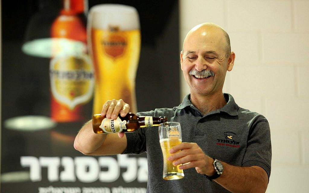 File photo of Ori Sagi at the Alexander Beer brewery in Tel Aviv, August 2011. (Moshe Shai/ Flash90)