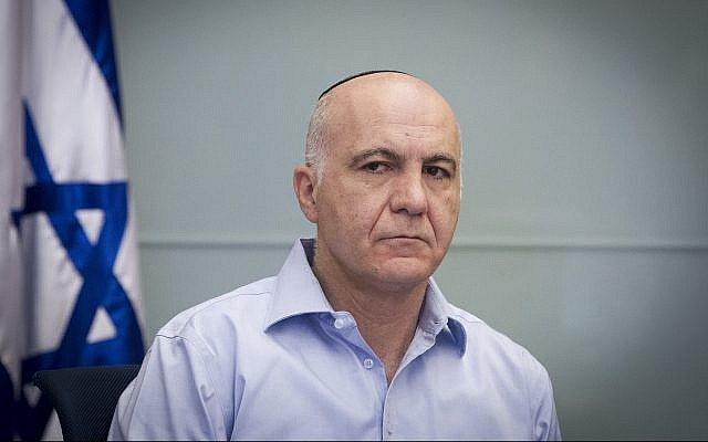 Yoram Cohen, then-chief of the Shin Bet security agency, attends a Knesset Foreign Affairs and Defense Committee meeting on November 18, 2014. (Miriam Alster/Flash90)