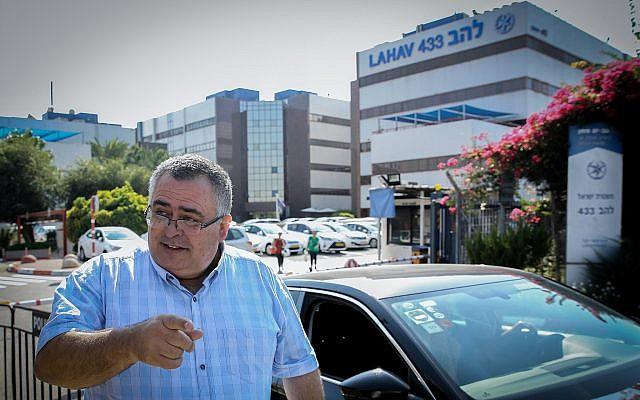 Likud MK David Bitan leaves the Lahav 433 headquarters after questioning by police on September 16, 2018. (Flash 90)