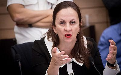 Deputy Attorney General Dina Zilber at a meeting of the Knesset's Economic Affairs Committee on December 3, 2018. (Miriam Alster/Flash90)