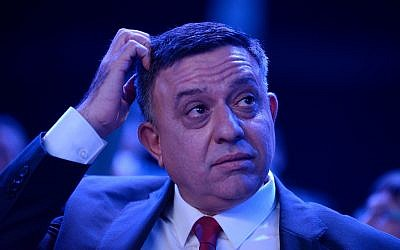 Labor Party leader Avi Gabbay attends a party conference in Tel Aviv on January 10, 2019. (Gili Yaari/Flash90)