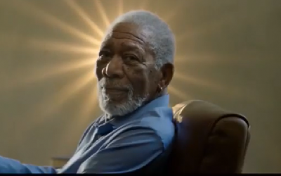 Actor Morgan Freeman in an ad for the Israeli air conditioner company Tadiran broadcast in January 2019 (Screencapture/YouTube)