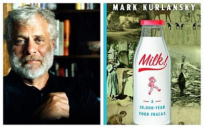 Author Mark Kurlansky (photo by Sylvia Plachy) and his book, 'Milk.' (Courtesy)