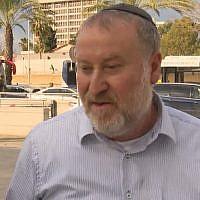 Screen capture of Attorney General Avichai Mandelblit speaking with Hadashot TV news, in footage broadcast on January 18, 2019. (Hadashot news)