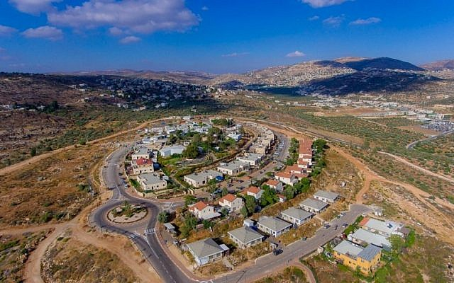 The northern West Bank settlement of Rehelim. (Samaria Regional Council)