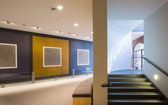 The Barbaralee Diamonstein-Spielvogel and Ambassador Carl Spielvogel Gallery houses the artwork 'Consequence,' by Sol LeWitt.(Raymund Flandez/US Holocaust Memorial Museum)