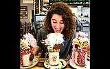 Aiia Maasarwe pictured in a Melbourne cafe, October 1, 2018. (Instagram)