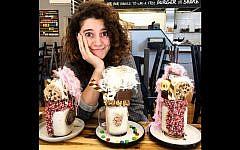 Aiia Maasarwe pictured in a Melbourne cafe, October 1, 2018. (Instagram)
