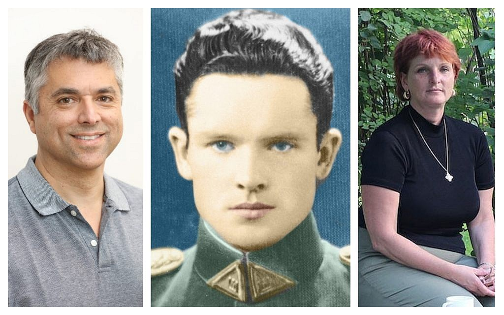 Left to right: Grant Gochin (Courtesy); Accused Nazi collaborator Jonas Noreika (Courtesy); and granddaughter Silvia Foti (Ina Budryte/via JTA)