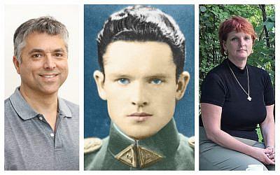 Left to right: Grant Gochin (Courtesy); Accused Nazi collaborator Jonas Noreika (Courtesy); and granddaughter Silvia Foti (Ina Budryte/via JTA)