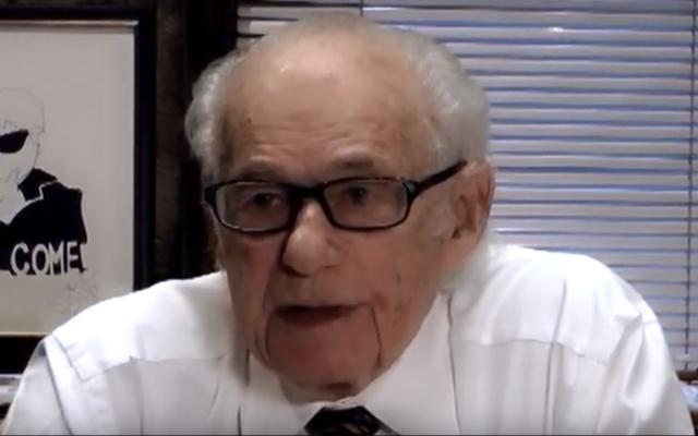 Canadian philanthropist Avrum Morrow in 2013. (YouTube screenshot)
