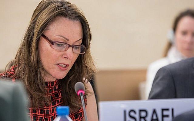 Israel's Ambassador to UN agencies in Geneva Aviva Raz-Schechter (Elma Okic/UN Photo)