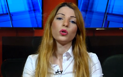 Arab Israeli Dima Tayeh who is running as a candidate in the Likud party primaries, seen in an interview with Hadashot news on January 8, 2019 (Screencapture)
