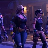 An illustration of the Fortnite game developed by Epic Games, a US video game developer  (YouTube screenshot)