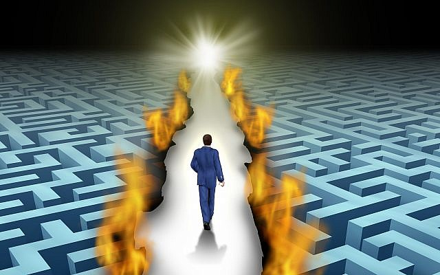 Illustrative image of a person forging a path ahead with innovation (wildpixel; iStock by Getty Images)