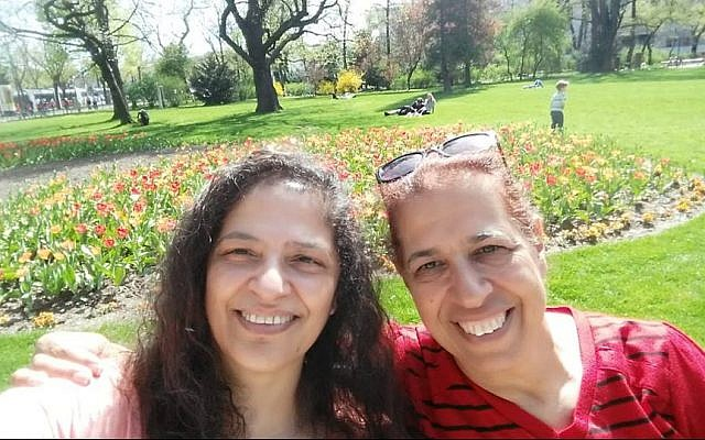 """Sisters Lily Pereg, left, and Pyrhia Sarusi, right, in a photo posted on the """"Missing in Mendoza"""" Facebook page. (Facebook)"""