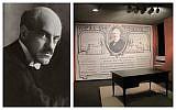 Edwin Montagu/ Lord Balfour's writing desk, at Beit Hatfutsot, the Museum of the Jewish People, Tel Aviv (Ziko/Wikipedia)